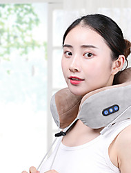 cheap -Cervical Spine Massager Multifunctional Kneading Heating Electric Vibration Charging Portable Home U-Shaped Massage Pillow Neck Protector