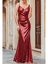 cheap -Women's Strap Dress Maxi long Dress - Sleeveless Solid Color Spring Summer Sexy 2020 Red S M L XL