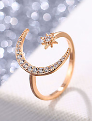 cheap -Ring AAA Cubic Zirconia Rose Gold Silver Gold 18K Gold Plated Platinum Plated Rose Gold Plated Star Stylish 1pc Adjustable / Women's / Party / Gift / Daily