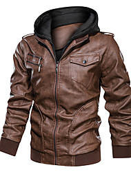 cheap -Men's Faux Fur Coat Stage Black Light Brown Brown M L XL 2XL
