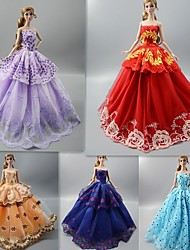 cheap -Doll accessories Doll Clothes Doll Dress Clothing Tulle Lace Fabrics Simple Creative Kawaii Handmade Toy for Girl's Birthday Gifts  Random Color