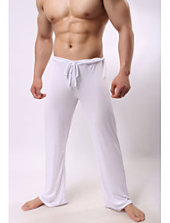 cheap -Men's Yoga Pants Drawstring Pants / Trousers Breathable Quick Dry Solid Color White Black Gray Ice Silk Fitness Pilates Running Sports Activewear High Elasticity Loose