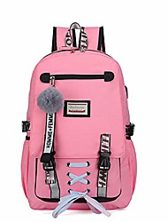 cheap -School Bag Rucksack Commuter Backpack Large Capacity Backpack Light Green Pink Black Yellow