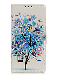 cheap -Phone Case For Alcatel Alcatel 1 Alcatel 1S 2019 Alcatel 3L Flip Magnetic Full Body Cases Animal Eiffel Tower Tree leather