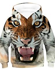 cheap -Kids Boys' Hoodie & Sweatshirt Long Sleeve Animal Brown Children Tops Active Basic Children's Day