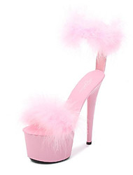 cheap -Women's Dance Shoes Pole Dancing Shoes Heel Buckle Slim High Heel White Black Yellow Hook&loop