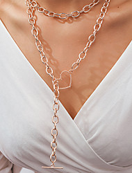 cheap -Women's Necklace Long Necklace Long Heart Classic Elegant Trendy Sweet Alloy Rose Gold 96 cm Necklace Jewelry 1pc For Party Evening Gift Street Birthday Party Festival