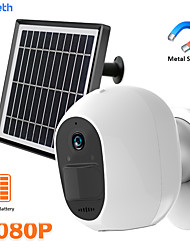 cheap -DIDSeth 3.3W Solar WiFi Camera 1080P Outdoor Wireless Security Camera Metal Shell Magnet Bracket 2MP HD Battery Powered PIR Cam