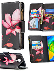 cheap -Case For Xiaomi Redmi 9 Note 9 10X 4G Note 9 Pro Max Note 9 Pro Note 9S Note 8T K20 K20 Pro Mi 9T Card Holder Flip Full Body Cases Animal Tree Flower PU Leather