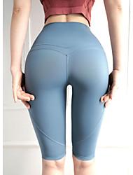 povoljno -Žene Kratke Hlače za jogu Kratke hlače Kontrola trbuščića Butt Lift Prozračnost Tamno siva Sive boje Najlon Yoga Fitness Trening u teretani Sportski Odjeća za rekreaciju Rastezljivo
