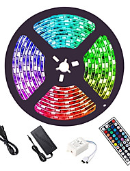 cheap -LED Strip Lights 16.4ft 5M RGB 5050 with 44Key IR Remote Control Flexible Color Changing 300 LEDs 10mm Linkable Self-adhesive Tiktok Lights for Home Lighting Kitchen Bed Bar Home Decoration