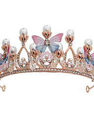 cheap -Imitation Pearl / Alloy Tiaras with Faux Pearl / Crystal / Rhinestone 1 Piece Wedding / Special Occasion Headpiece