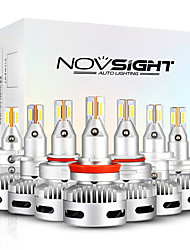 cheap -NOVSIGHT LED Car Light Bulbs 2pcs A500-N26 For H7-H11-9005-9012-D1-D2-D5 90W 12000lm LED Headlamps For universal General Motors All years With Set Up video