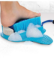 cheap -foot scrubber with pumice stone brush feet massager spa cleaner with non-slip suction cups,callus remover for shower floor(blue with pumice stone)