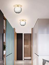 cheap -16 cm Globe Design Flush Mount Lights Metal Electroplated Modern Nordic Style 110-120V 220-240V