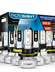 cheap -NOVSIGHT LED Car Light Bulbs 2pcs A500-N15 For H1-H3-H4-H7-H11-H13-9005-9006-9007 50 W 10000 lm LED Headlamps For universal General Motors All years With Set Up video