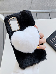 cheap -Case For Samsung Galaxy A71 A51 M40S A70E A11 A41 A81 M60S A91 A01 A21 M11 A51(5G) A71(5G) A21S Note 20 Shockproof Pattern Back Cover Heart TPU Cotton Fabric
