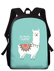 cheap -Large Capacity School Bag Unisex Polyester Pattern / Print Zipper Animal School Camel / Blushing Pink / Green / Light Green