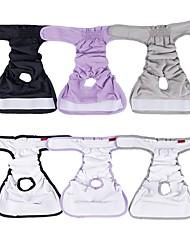 povoljno -Psi Hlače Jednobojni Jedinstven dizajn Zima Odjeća za psa Crn purpurna boja Sive boje Kostim Pamuk XS S M L XL