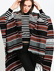 cheap -Women's Active Rectangle Scarf - Striped Washable