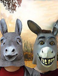 cheap -Halloween Party Toys Masks Costume Hooded Masks Thrilling Donkey Masquerade Emulsion Kid's Adults Trick or Treat Halloween Party Favors Supplies