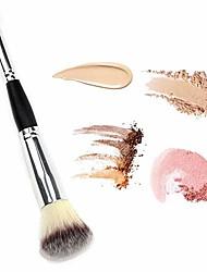 cheap -double ended complexion brush face concealer powder makeup brush, blending liquid foundation, cream cosmetics - eye shadow brush loose brush, blush brush, black handle, vegan brush&