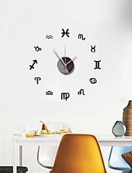 cheap -Frameless DIY Wall Clock, 3D Mirror Acrylic Wall Clock Mute Wall Stickers for Living Room Bedroom Home Decorations