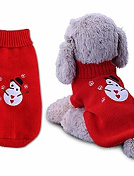 cheap -christmas pet sweater vest for cats puppys small dog, warm winter spring puppy coat