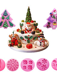 cheap -Christmas Series Fondant Cake Mould Chocolate Cake Mold Baking Non-stick And Heat-resistant Kitchen Handmade Tools