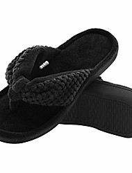 cheap -women's cozy memory foam plush gridding velvet lining spa thong flip flops clog style house indoor slippers (x-large / 11-12 b(m) us, violet)