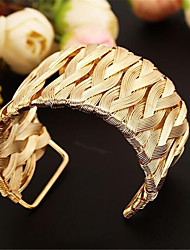 cheap -Women's Cuff Bracelet Hollow Out Fashion Fashion Alloy Bracelet Jewelry Gold For Gift Date Festival