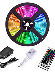 cheap -5M 300 x 2835 8mm Lights LED Strip Lights RGB Tiktok Lights Flexible and IR 44Key Remote Control Linkable Self-adhesive Color-Changing