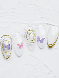 cheap -1 pcs 3D Nail Stickers Butterfly nail art Manicure Pedicure New Design / Disposable Sweet / Fashion Daily / Festival