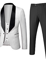 cheap -Tuxedos Standard Fit Shawl Collar Single Breasted One-button Polyester Lolita