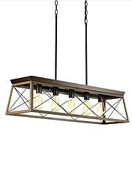 cheap -5-Light 96 cm Single Design Pendant Light Metal Vintage 110-120V 220-240V