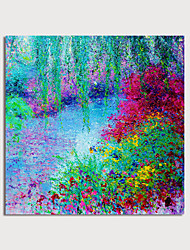 cheap -Hand Painted Canvas Oilpainting Abstract Landscape Wine Home Decoration with Frame Painting Ready to Hang With Stretched Frame