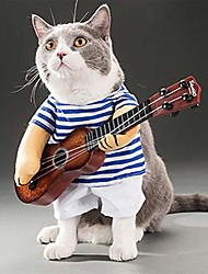 cheap -Pet Guitar Costume Dog Costumes Guitarist Player Halloween Christmas Cosplay Party Funny Cat Clothes