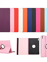 cheap -Case For Huawei Mediapad T5 10 MatePad Pro with Stand Flip Full Body Cases Solid Colored PU Leather TPU 360 Degree Rotating Protective Stand Cover
