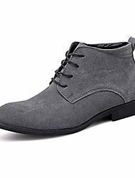 cheap -but& #39;s high-top lace up suede oxford derby dress martin boots ankle bootie & #40;11.5, grey& #41;