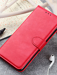 cheap -Phone Case For Alcatel Alcatel 3 Alcatel 3L Alcatel 1C 2019 Card Holder Flip Full Body Cases leather