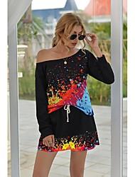 cheap -Women's Basic Leopard Cheetah Print Two Piece Set Tracksuit Set Pant Loungewear Lace up Tops