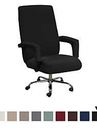 cheap -Office Chair Cover - Protective & Stretchable Universal Chair Covers Stretch Rotating Chair Slipcover Lycra Jacquard Computer Office Chair Cover Machine Washable XL/L Size