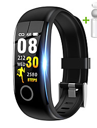 cheap -JSBP HT10 Smart Watch Body Temperature Test BT Fitness Tracker Support Notify Full Touch Screen/Heart Rate Monitor Sport Stainless Steel Bluetooth Smartwatch Compatible IOS/Android Phones