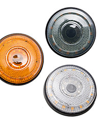 cheap -12V 24LED Round Side marker Turn Signal Brake Flash Warning Light Yellow Smoke Clear Lens Yellow&Red Color