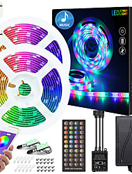 cheap -15M LED Strip Lights Waterproof RGB LED Light Strip Music Sync Can be Timed LED Strip 10M 15M 20M 5050 SMD Color Changing LED Strip Light and 40 Keys Remote Controller for Bedroom Home TV Back Lights