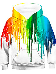 cheap -Kids Boys' Hoodie & Sweatshirt Long Sleeve Striped Rainbow Children Tops Active Basic Children's Day