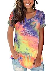 povoljno -ženske ljetne majice, ležerne kratke rukave v vrat majice, majice s kratkim rukavima, gornji dio tunike