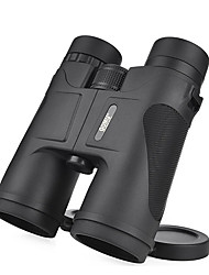 cheap -10 X 42 mm Binoculars Roof Military Outdoor Roof Prism Wide Angle 303/1000 m Multi-coated BAK4 Casual Military / Tactical Hunting and Fishing Metalic Spectralite Rubber