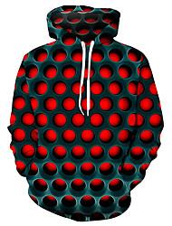 cheap -Men's Plus Size Hoodie Sweatshirt Hoodie Pullover Sweatshirt Geometric 3D Hooded Street Basic Casual / Daily Hoodies Sweatshirts  Purple Red Blue