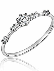 cheap -7 tiny diamond pieces of exquisite ring stacking rings for women small fresh style ladies cubic zirconia simulated diamond ring jewelry | gold silver rings for women US Size 5-10